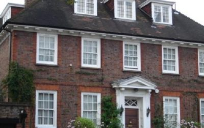Screw piles for boundary wall in Hampstead