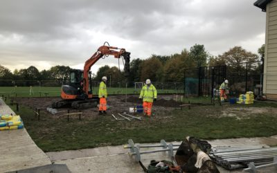 46 Screw Piles for Canterbury School's New Modular Building
