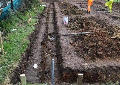 installlation of screw piles for New build hospital foundations no vibration, no nose no muck away, spoil removal