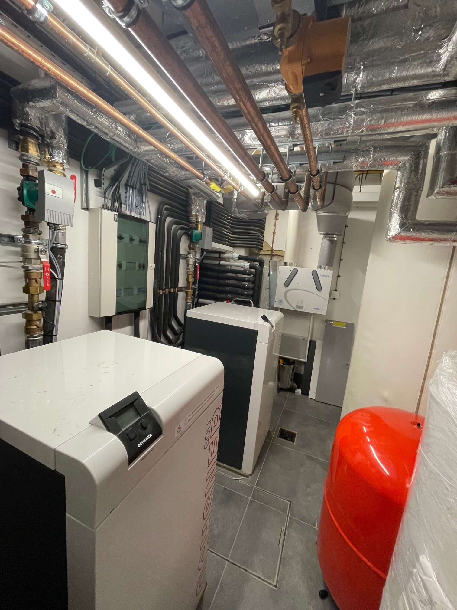 What does a Commercial air source heat pump plantroom look like? RHI funding