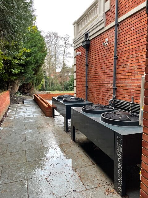 Air Source Heat pumps for large london residence gated comunity
